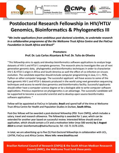 KRISP News: Postdoc Fellowship available - HIV & HTLV