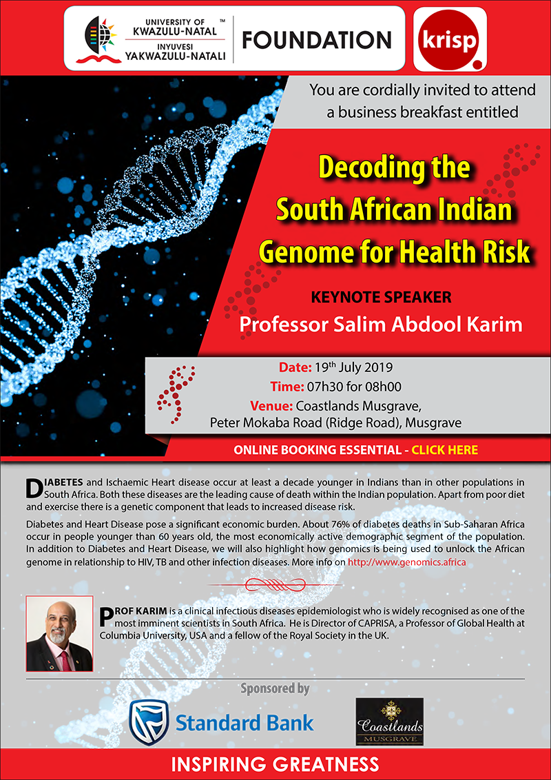 Decoding the South African Indian Genome for Health Risk