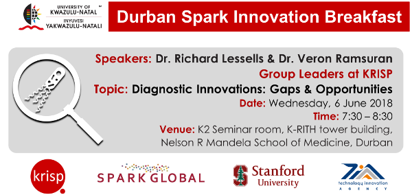 Dr. Richard Lessells & Dr. Veron Ramsuran, Group Leaders at KRISP, Topic: Diagnostic Innovations: Gaps & Opportunities