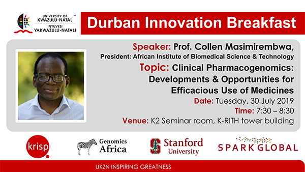 Durban SPARK Innovation Breakfast presentation by Prof. Collen Masimirembwa, 