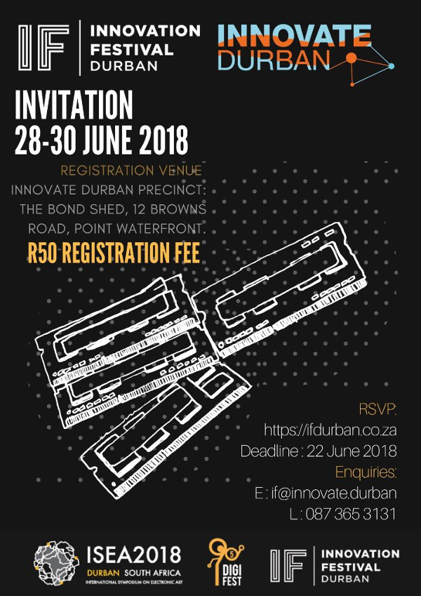 Innovation Festival Poster 2018, Durban, South Africa, 28-30 June 2018