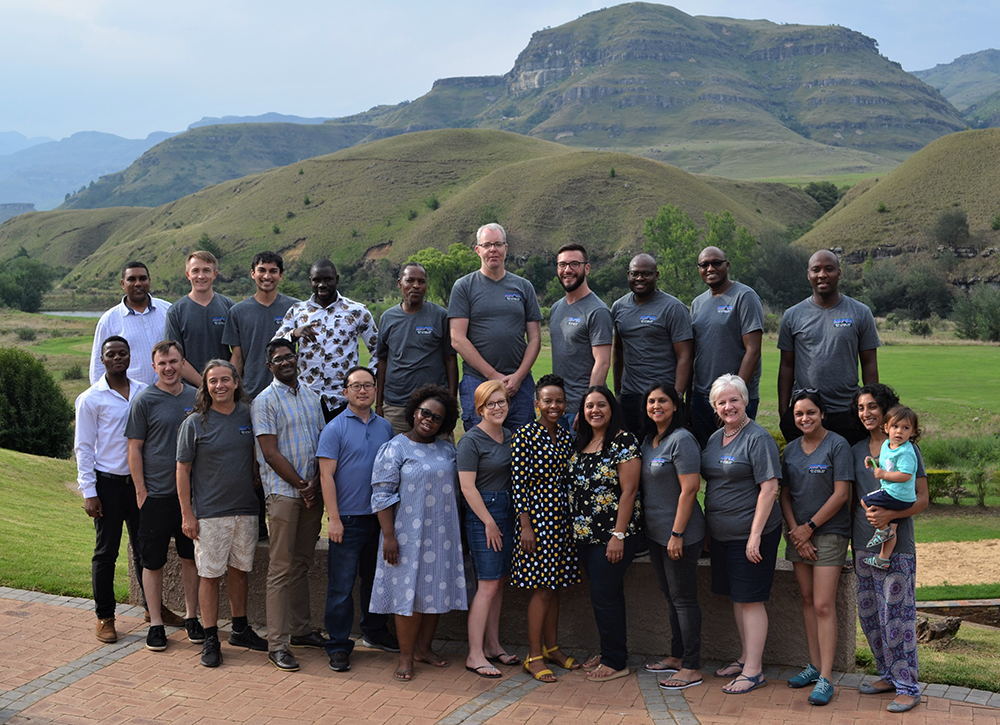 KRISP faculty and staff at the Strategic meeting 2020 in the Drakensberg