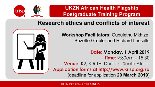 Research Ethics and Conflicts of Interest Workshop, Durban, South Africa, 1st April 2019