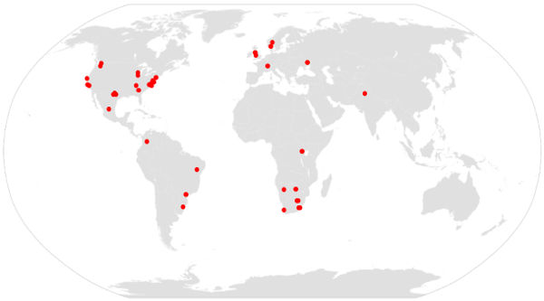 KRISP collaborators across the world