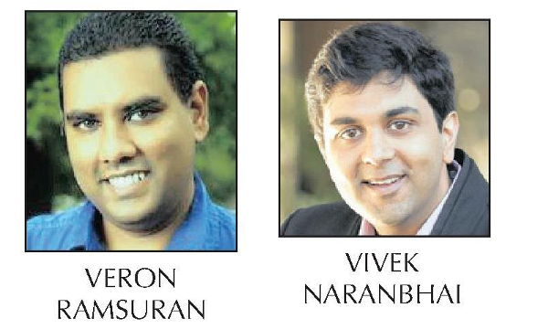 Veron Ramsuran and Vivek Naranbhai photos