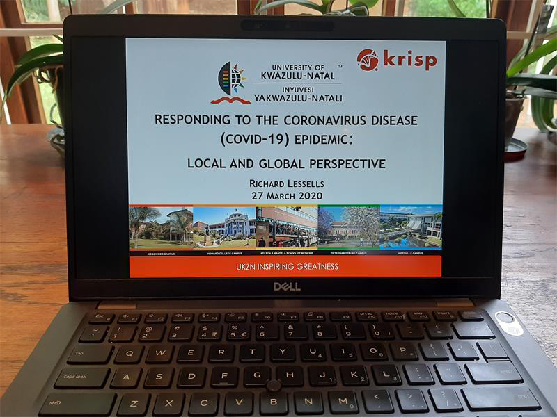 KRISP Data Breakfast piece at Berea News, Covid-19 will change us in many ways, says UKZN war room specialist, 14 April 2020