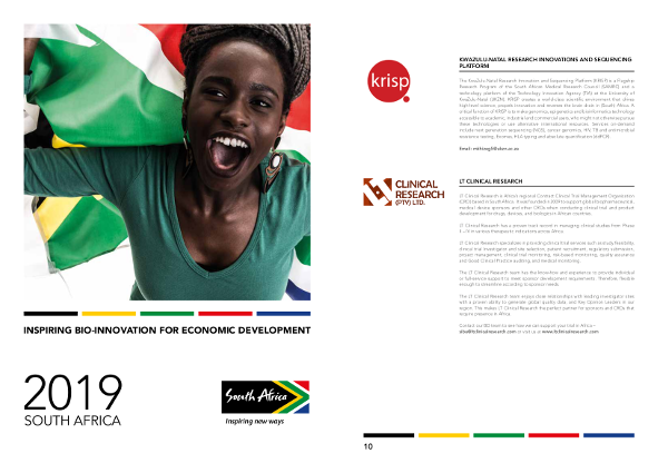 KRISP is featured as a company that can inspire bio innovation and social development in South Africa